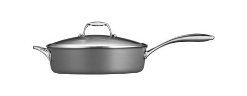 Tramontina Gourmet Hard Anodized 5.5 qt. Covered Deep Saute Pan - The Tramontina Gourmet Hard Anodized 5.5 qt. Covered Deep Saute Pan gives you the versatility to create amazing dishes on any cooktop. Made of anodized aluminum, this pan offers a deep cooking ridge, non-stick surface, and an ergonomic stainless steel handle. A tempered glass lid lets you keep an eye on your food, and it's oven-safe up to 350-degrees F.About Tramontina USAOriginally founded in Brazil, the versatile Tramontina has been a leading manufacturer and distributer to national and international retailers for over a century. In 1986, Tramontina USA was founded in Sugar Land, TX, where it has been proudly carrying the company banner in the United States. The Tramontina group operates 11 modern factories and 12 distributing centers worldwide. A leading manufacturer of household goods, ranging from cutlery to flatware and kitchen utensils, the group effectively invests in product research, development, and innovation to provide superior products and unmatched customer service.