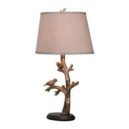 Unbranded - s: Tweeter 27 in. Bronzed 32295BRZD - Shop for Lighting & Fans at The Home Depot. You ll need more than 120 characters to talk about the Tweeter Table Lamp. The 27 in. lamp, with Bronzed Finish, features a pair of perky birds perched on the branches, ready to flutter away at any moment. An ideal piece for accent tables, buffets, or bedroom lighting.