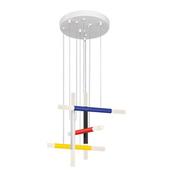 Sonneman Lighting - Sonneman Lighting 2285.71 Axes LED Modern / Contemporary Pendant Light - Comes with 10 ft adjustable cable.