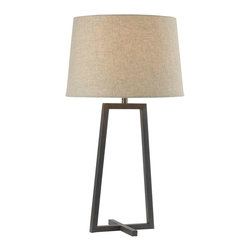 Kenroy - Kenroy 32150ORB Ranger Table Lamp - 'X' marks the perfect spot where you place the Ranger lamp.  Form and function are simplified into an elegant geometric statement.