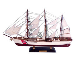 "Handcrafted Model Ships - USCG Eagle Limited 21"" - Naval Tall Ship Model - Sold fully assembled"