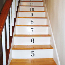 Wall Decals Numbered Stairs