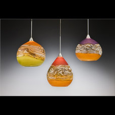 Modern Pendant Lighting by Bernard Katz Glass Design and Gallery