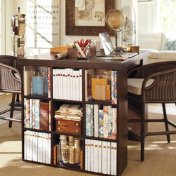 Bedford Project Table Set - This is a great desk and area for working on large projects. I love the end organizer.