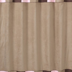 Sweet Jojo Designs - Sweet Jojo Designs Soho Pink and Brown Shower Curtain - This designer collection adds a touch of style and a splash of color to the bathroom. The easy bathroom makeover can easily pair with coordinating Sweet JoJo Designs room accessories to complete a favorite theme.