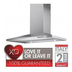 """XO - OXJ Series XOJ42S 42"""" Chimney Style Wall Mount Low Profile Chimney Range Hood Wi - The XOJ is a sleek sophisticated design with flatter angles and clean edges Designed and crafted in Italy its the perfect choice for those seeking high performance with European Styling"""