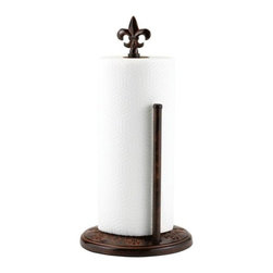 """Old Dutch - 15 H. Versailles Standing Paper Towel Holder - �Versailles� Standing Paper Towel Holder by Old Dutch 15\"""" H,   keeps your paper towels handy and tidy on the countertop. Portable design lets you easily bring paper towels to the job at hand.  Weighted base & convenient tear-off bar. Steel construction with a warm, antique copper finish is easy to assemble. Ships in a full color gift box. Coordinates with other �Versailles� items such as Canister Sets, Cookie Jars and Kitchen Tool Caddies  This item cannot be shipped to APO/FPO addresses  NOTE:"""