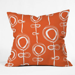 DENY Designs - Rachael Taylor Contemporary Orange Throw Pillow Multicolor - 13253-THRPI1 - Shop for Pillows from Hayneedle.com! You are sure to fall in love with the fun Rachael Taylor Contemporary Orange Throw Pillow. With color that pops and a flirty floral pattern this durable woven polyester pillow is a charmer. About DENY DesignsDenver Colorado based DENY Designs is a modern home furnishings company that believes in doing things differently. DENY encourages customers to make a personal statement with personal images or by selecting from the extensive gallery. The coolest part is that each purchase gives the super talented artists part of the proceeds. That allows DENY to support art communities all over the world while also spreading the creative love! Each DENY piece is custom created as it's ordered instead of being held in a warehouse. A dye printing process is used to ensure colorfastness and durability that make these true heirloom pieces. From custom furniture pieces to textiles everything they make is unique and distinctively DENY.