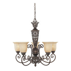 Designers Fountain - Designers Fountain 97585 Five Light Up Lighting Chandelier from the Amherst Coll - Features: