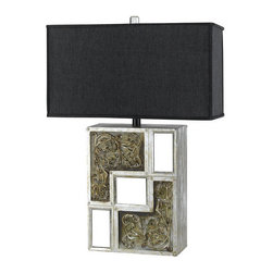 Cal Lighting - Cal Lighting BO-2087TB Romano 1 Light Pedestal Base Table Lamp - Features: