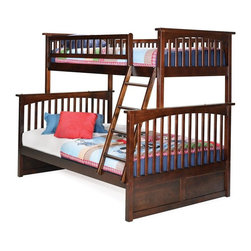 Atlantic Furniture - Columbia Bunk Bed - ATL-COLUMBIA-TF - Solid hardwood motrise and tenon construction