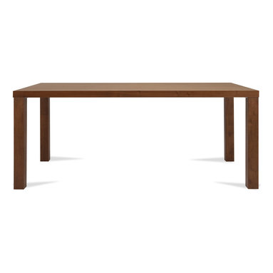 Bryght - Brent Walnut Dining Table For 8 - The Brent dining table with its clean symmetrical lines is a modern design aficionado favorite. Jazz it up to your heart's content when entertaining family and friends. Also available in a Black and White finish.