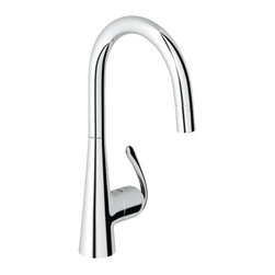 """Grohe - Grohe 32226SDE Ladylux Single-Lever Sink Mixer 1/2"""", Stainless Steel - Grohe 32226SDE Ladylux Single-Lever Sink Mixer 1/2"""", Stainless Steel GROHE is one of the largest faucet importer in the U.S. and a market leader in many Eurpoean countries such as Germany and Europe. All in all, Grohe is one of the three largest faucet manufacturers in the world. with over 70 years of time spent refining their product, not only continues to innovate, but they listen to the customer and always strive to meet their ever increasing needs. Grohe faucets are seen everywhere from upscale residential homes to commercial applications. Innovations such as pull-out spray kitchen faucets, solid stainless steel kitchen faucets, single hole centerset lavs that replaced traditional American 4"""" configurations are just a few of the concepts brought to the United States by Grohe. Grohe continues to define innovation, and never dwells on success but always pushes the product to become bet"""
