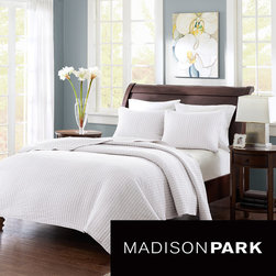 Madison Park - Madison Park Jaxson 3-piece Coverlet Set - The Madison Park Jaxson Coverlet Collection allows for the perfect layering piece to current decor, yet is unique enough to stand alone on top of the bed. Made from polyester microfiber, this coverlet and sham are incredibly soft to the touch.