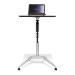 Jesper Office Furniture - 201 Series Height Adjustable WorkPad Table in Walnut - Features: