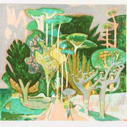 Millard Owen Sheets, Old Village, Lithograph - Artist:  Millard Owen Sheets, American (1907 - 1989)
