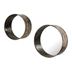 Sterling Industries - Oil Drum Mirror(Set Of 2) - Oil Drum Mirror(Set Of 2)