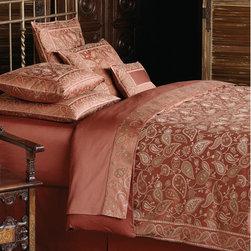 Bedding & Linens - Paisley Shiraz Red Sheets & Bedding. J Brulee Home, Tucson, AZ