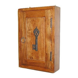 Sierra Living Concepts - Solid Wood 9 Hooks Peg Wall Hanging Key Holder Box - Handmade Solid Wood 9 Hooks Peg Wall Hanging Key Holder Box. Always know right where your keys are, hang this great Key Cabinet right next to the door and hang your keys up as soon as you come in.