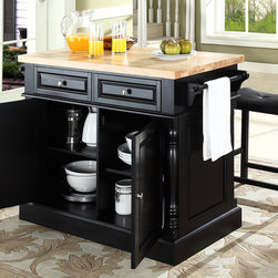 Crosley Furniture Butcher Block Top Kitchen Island With