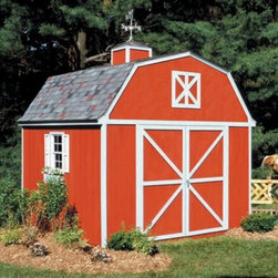 Handy Home Berkley Storage Shed - 10 x 12 ft. - If you find that the Handy Home Berkley Storage Shed - 10 x 12 ft. is so nice that you'd prefer to live there and use your home to store your lawnmower, we really couldn't blame you, but you have to break the news to your family. The solid wood frame of this spacious structure features 6-foot high walls with a 10-foot central peak, and is available with or without a floor. The wide double-door with a 64W x 72H-inch opening is pre-hung with continuous hinges, and can be located on any of the four exterior faces. The outside of the building is pre-primed and ready for painting, and all necessary hardware and detailed instructions are included.About Handy HomeSince 1978, Handy Home has been making it easy and affordable for their customers to add storage sheds, gazebos and playhouses to their homes. As North America's largest producer of wooden storage and recreational building kits, Handy Home makes durable structures that require no sawing or drilling and can be delivered when and where their customers need them.