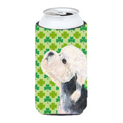 Caroline's Treasures - Dandie Dinmont Terrier St. Patrick's Day Shamrock Tall Boy Koozie Hugger - Dandie Dinmont Terrier St. Patrick's Day Shamrock Tall Boy Koozie Hugger Fits 22 oz. to 24 oz. cans or pint bottles. Great collapsible koozie for Energy Drinks or large Iced Tea beverages. Great to keep track of your beverage and add a bit of flair to a gathering. Match with one of the insulated coolers or coasters for a nice gift pack. Wash the hugger in your dishwasher or clothes washer. Design will not come off.
