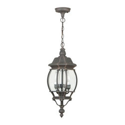 Craftmade - Craftmade Z331 French Style 3 Light Outdoor Pendant - Craftmade 3 Light Pendant from the French Style CollectionFeatures: