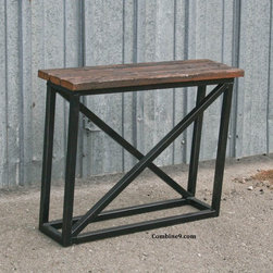 Small Console Table. Side Table. Vintage Industrial/Mid Century. Reclaimed Wood. -