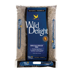 Wild Delight - Special Finch Food 20 lbs + Freight - A premium Finch food blended with the seeds that America's favorite Finches love. American Goldfinches, Purple Finches, House Finches, Chickadees, Nuthatches, Titmice, Exotic Parakeets and other outdoor pets will eat Special Finch Food. Features: Premium