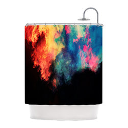 """Kess InHouse - Caleb Troy """"Rainbow Black"""" Shower Curtain - Finally waterproof artwork for the bathroom, otherwise known as our limited edition Kess InHouse shower curtain. This shower curtain is so artistic and inventive, you'd better get used to dropping the soap. We're so lucky to have so many wonderful artists that you'll probably want to order more than one and switch them every season. You're sure to impress your guests with your bathroom gallery in addition to your loveable shower singing."""