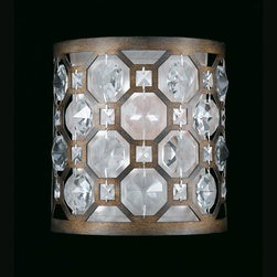 Triarch International - Cartier Weathered Bronze One-Light Wall Sconce with Crystal Accents - Cartier Weathered Bronze One-Light Wall Sconce with Crystal Accents Triarch International - 32150/1