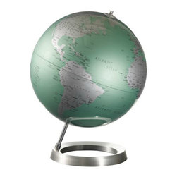 Table Globe, Mint - Here is a striking, modern take on the classic globe. I'd put it on display on my desk or in a living room for more show.