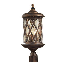 Elk Lighting - Elk Lighting 42034/2 2 Light Post Light in Hazlenut Bronze & Designer Water Glas - 2 Light Post Light in Hazlenut Bronze & Designer Water Glass belongs to Barrington Gate Collection by Elk Lighting The Design Of This Series Draws Its Inspiration From Historic English Manor Houses Throughout The Southern Region.  The Traditional Design Of The Cast Aluminum Framework Is Accentuated With A Hazelnut Bronze Finish And Designer Water Glass.  Post Light (1)
