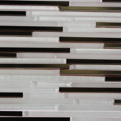 """Sample - Breeze Stylus Steel Ice Pattern 1/8� X Random Glass Tiles Sample - BREEZE STYLUS STEEL ICE PATTERN 1/8"""" X RANDOM GLASS TILES  SAMPLE   Samples are intended for color comparison purposes, not installation purposes.-Glass Tiles -"""