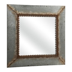 Rustic Elegance Metal Wall Mirror - *Need a touch of history to your home. This Julian metal mirror has an antique feel that will make a great statement piece in any home.
