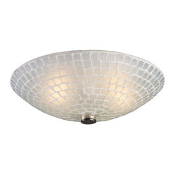 Elk Lighting - Elk Lighting-10139/2WHT-Fusion - Two Light Semi-Flush Mount - Individuality is what defines this exquisite line of hand blown glass. Each piece is meticulously hand blown with up to three layers of uncompromising beauty and style.