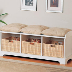 Benches Storage Bench with Baskets by Coaster Sku: 501054 - Benches Storage Bench with Baskets by Coaster Sku: 501054
