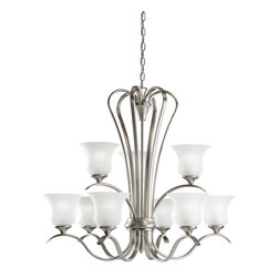 Kichler Lighting - Kichler Lighting 2086NI Wedgeport Brushed Nickel 9 Light Chandelier - Kichler Lighting 2086 Wedgeport 9 Light Chandelier