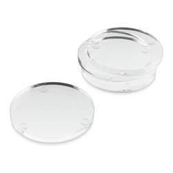 Acrylic Party Coasters - To get the look of glass without the risk, these clear acrylic coasters can endure a beating and still look like a million bucks.