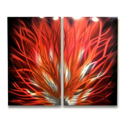 Miles Shay - Metal Wall Art Decor Abstract Contemporary Modern Sculpture- Fiamma 30 - As seen at  The Venetian Hotel in Las Vegas.
