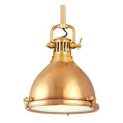 Hudson Valley Lighting - Hudson Valley Lighting 2211-AGB Pelham Aged Brass Pendant - Hudson Valley Lighting 2211-AGB Pelham Aged Brass Pendant