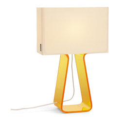 Pablo Designs - Tube Top Table Lamp in Yellow - Features: