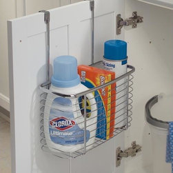 Axis Chrome Over Cabinet Deep Storage Basket -