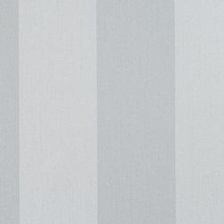 Walls Republic - Infinite Grey Wallpaper S43737, double roll - Infinite is a large scale tone on tone grey striped wallpaper. It is a classic pattern that can compliment a variety of other prints and styles. Use it in a hallway or bedroom for a classic simplistic look.