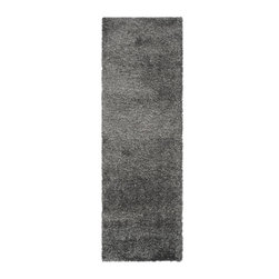 Safavieh - Safavieh Shag Rug with Dark Grey X-72-4848-151GS - Once popular in the '70's, the shag rug is back. With an irresistibly soft pile and wonderful palettes, it brings warmth to every decor.