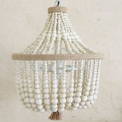 Dahlia Chandelier - Beaded chandeliers are such a hot decorating trend, and this one comes at a great price. I love mixing beaded chandeliers and chinoiserie.