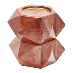 Lazy Susan - Lazy Susan Large Russet Ceramic Star Candle Holders (Set of 2) - Handcrafted In Earthenware And Finished In A Rich Russet Glaze These Geometric Forms Are Based On Origami. Origami Is Now Considered A Modern Art Form After Being Popularized Outside Of Japan In The Mid-90'S. Originating in Japan in 1981 Lazy Susan is an innovative furniture and home accessories company. With a clean and simple design aesthetic the company is focused on creating curated eclectic home collections. Inventively mixing modern and traditional design elements every piece is unique and beautiful with a foundation in classic design styles. Each season Lazy Susan incorporates current trends with inviting color palettes to create beautiful collections that inspire and behold. During the design and development process they strive to create pieces that blend effortlessly with personal heirlooms arrange comfortably in collection groups as well as stand alone as room defining focal points. Their goal is to develop collections that compliment living spaces and express personal style. Artisans from around the globe are an integral part of bringing the Lazy Susan collections to life. Working with local craftsmen provides the unique opportunity to find and mix eco-friendly regional natural resources into the product collections. Uncommon materials pairings help create visually exciting and stimulating pieces with strong roots in the natural beauty of organics. Commitment to design excellence and creative originality has allowed Lazy Susan to build relationships with many of the hottest home accessory and furniture retailers across the United States. Premier domestic and international hotels resorts event designers and television programs come to Lazy Susan for distinctive pieces on the leading edge of style and trends. On November 1 2013 ELK GROUP International a premier designer and importer of lighting fixtures decorative accessories and furniture acquired Lazy Susan. Through a combinatio