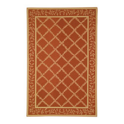 """Safavieh - Chelsea Maroon/Yellow Area Rug HK230E - 2'9"""" x 4'9"""" - 100% pure virgin wool pile, hand-hooked to a durable cotton backing. American Country and turn-of-the-century European designs. This collection is handmade in China exclusively for Safavieh."""