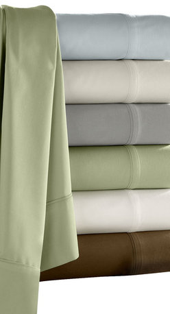Luxor Linens - Camelot Bamboo Sheet Set - Make your bed in cozy style with these dreamy bamboo sheets. Ecofriendly and extra soft in cool, calming colors, they're a good night's sleep waiting to happen.