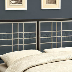 Black / Silver Queen / Full Size Combo Head Or Footboard -